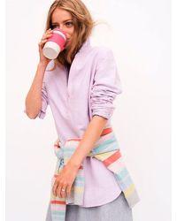 Nrby Chrissie Linen Cross Dyed Shirt - Purple
