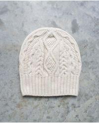 Beaumont Organic Glenda Lambs Wool Hat In Chalk - White