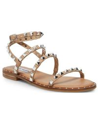 Steve Madden Low Leather Sandals - Red
