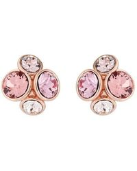 Ted Baker Lynda: Jewel Cluster Stud Earrings - Pink