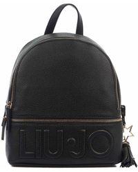 Liu Jo Women's Af0211e008622222nero Black Backpack