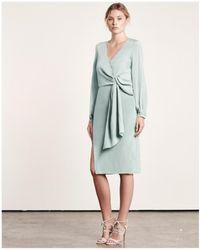 Elliatt Sway Twist Dress Sage - Green