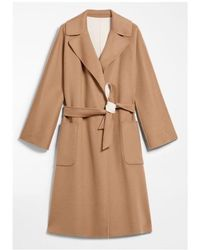 Weekend by Maxmara - Reversible Camel And Cream Wool Coat Balta 50110107 - Lyst