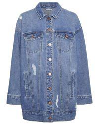 Noisy May Fiona Denim Jacket , Colour:ltdenim - Blue