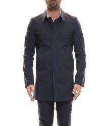 Herno Lasered Blue Raincoat
