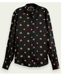 Scotch & Soda Star Print Shirt In A Regular Fit - Black