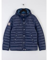 Pretty Green - Donlan Quilted Jacket Navy - Lyst