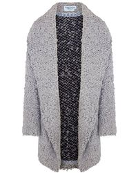 Haris Cotton Wool Blend Oversized Cardigan - Grey