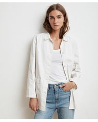 Velvet By Graham & Spencer - Rivka Canvas Button-up Jacket - Lyst