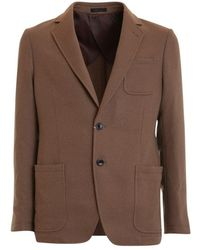 Armani - Unlined Jacket Brown - Lyst