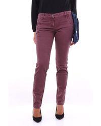 Jacob Cohen Burgundy Trousers Mod. Pwchloe1 - Purple