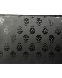McQ Clutch With Skull - Black