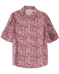 Lily and Lionel Amelia Top - Wild Rose - Red