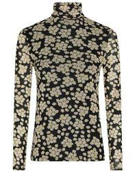 FABIENNE CHAPOT Jane Mesh Top - Blossom Bouquet Black