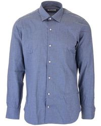 Loro Piana - Men's Fal0356f0p4 Light Blue Cotton Shirt - Lyst