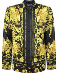Versace Jeans Couture Black Shirt / Baroque Fantasy Man - White