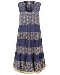 Naudic Lulu Dress Roza Schiflly Navy Naug-1176 - Blue