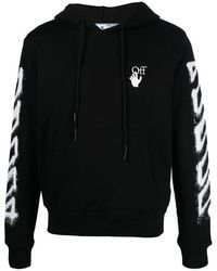 Off-White c/o Virgil Abloh Men's Ombb034s21fle0041001 Black Cotton Sweatshirt