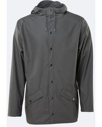 Rains Jacket 1201 Jacket - Charcoal (unisex) - Grey