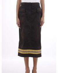 Calvin Klein Skirt With Reflective Band - Black