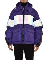 Maison Mihara Yasuhiro Down Jacket Back Bag Docking - Blue