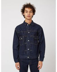 Slowear Orslow 50's Denim Jacket (one Wash) - Navy Blue