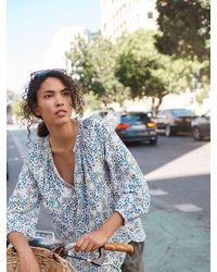 Nrby Livvie Print Drapey Shirt - Blue