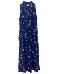 Mercy Delta Penrose Rainbow Shells Sea Sleeveless Dress - Blue