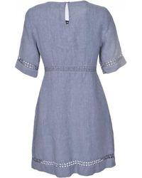 cba78abdeb 120% Lino - 120% Lino Short Sleeve Dress - Lyst