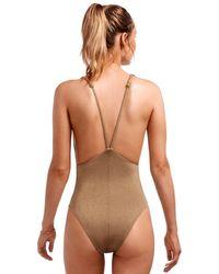 Vitamin A Stella Swimsuit Bronze - Metallic