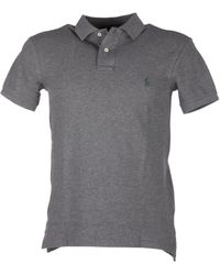Ralph Lauren Polo Shirt In Grey - White