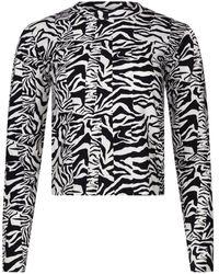 Être Cécile Zebra Inez Long Sleeve T-shirt - Black