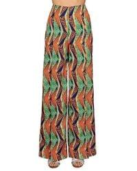Stella Jean Geometric Print Palazzo Trousers - Multicolour