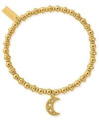 ChloBo Didi Sparkle Starry Moon Bracelet - Gold - Metallic