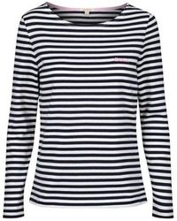 Barbour Hawkins Striped Top Colour: Navy/white - Blue