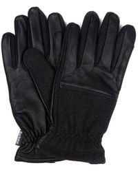 Barbour rugged Melton Gloves Charcoal - Black