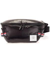 Thom Browne Men's Mag282a06553001 Black Other Materials Belt Bag