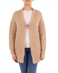 Les Copains Camel-colored Cardigan - Brown