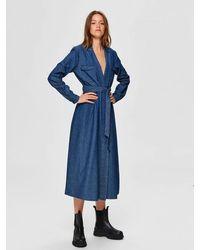 SELECTED Blue Denim Dress