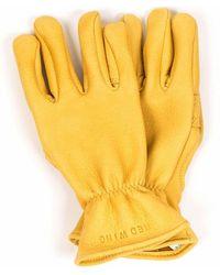 Red Wing 95233 Buckskin Unlined Gloves - Yellow