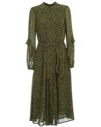 Michael Kors Women's Mh98zcydgj346 Green Polyester Dress