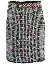 Marc Jacobs Embroidered Tweed Mini Skirt - Black