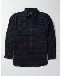 Pendleton Cascade Plaid Shirt - Green/navy/red - Blue