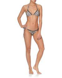 Camilla Plait Strap Halter-neck Bikini 581/582 In Brown