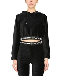 T By Alexander Wang Women's 4cc1211197001 Black Other Materials Sweatshirt