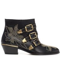 Chloé Chlo㉠Women's Chc16a134750zy Black Other Materials Ankle Boots