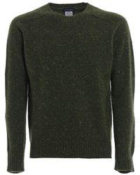 Paolo Fiorillo Capri Melange Cashmere Crew Neck Sweater - Green