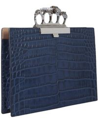 McQ Four-ring Jewelled Clutch - Blue