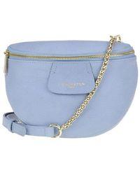 Lancaster Grainy Leather Belt Bag - Blue