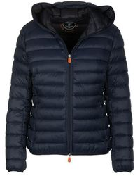 Save The Duck Hooded Jacket Navy - Blue